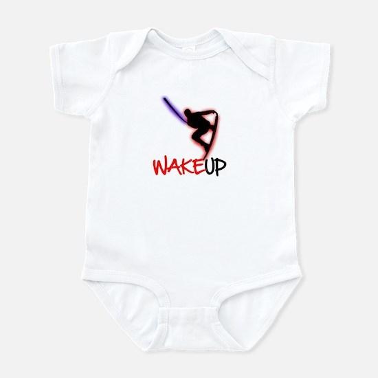 Wake Up Red/Purple Infant Bodysuit