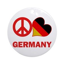 Peace Love Germany Ornament (Round)