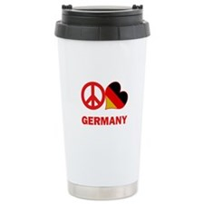 Peace Love Germany Travel Mug
