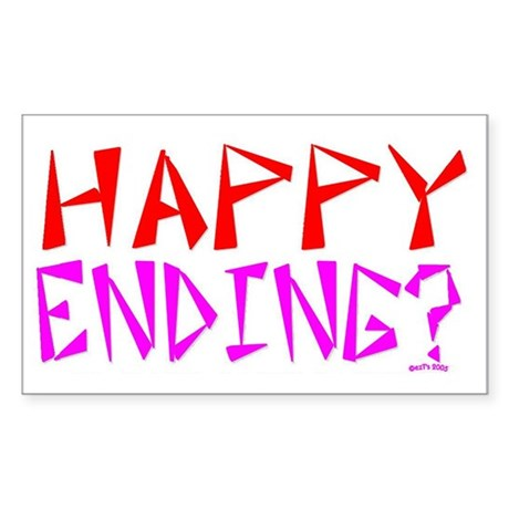 HAPPY ENDING Rectangle Sticker