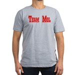 Team Mel (Plain) Men's Fitted T-Shirt (dark)