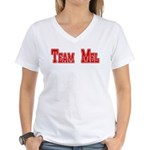 Team Mel (Plain) Women's V-Neck T-Shirt