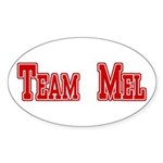 Team Mel (Plain) Sticker (Oval 10 pk)