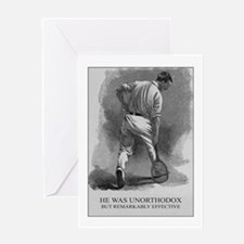He Was Unorthodox - Tennis Greeting Card