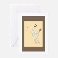 1920's Tennis Girl - Greeting Card
