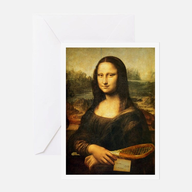 Mona Lisa Smile - Tennis Greeting Card