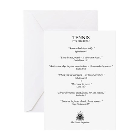 Biblical Tennis - Greeting Card