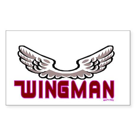 WINGMAN Rectangle Sticker