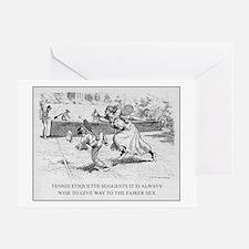 Tennis Etiquette - Greeting Card