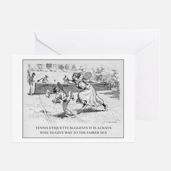 Tennis Etiquette - Greeting Card