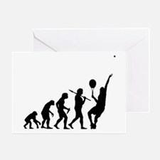 Tennis Evolution - Greeting Card