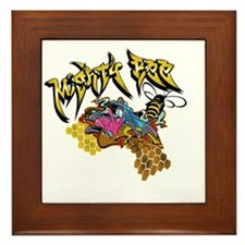 Graffiti Mighty Bee Framed Tile