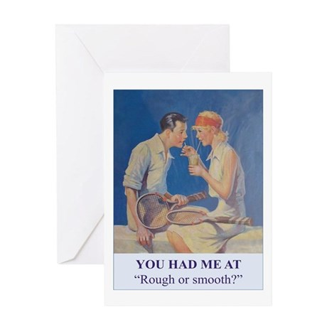 Rough or Smooth - Tennis Greeting Card