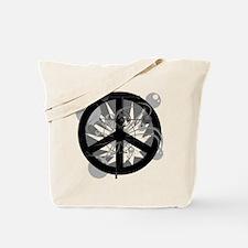 Red Peaceworks Tote Bag