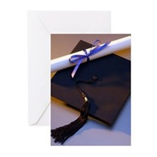 Graduation Hat And Diploma Greeting Cards (pk Of 2
