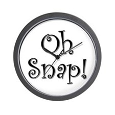 """Oh Snap!"" Wall Clock"