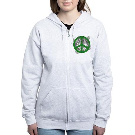 Green Peaceworks Women's Zip Hoodie