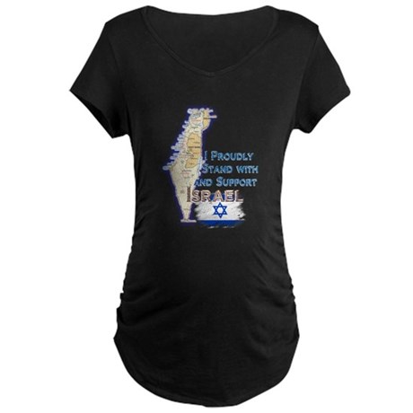 I Stand With Israel - Maternity Dark T-Shirt
