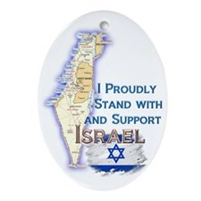 I Stand With Israel - Ornament (Oval)