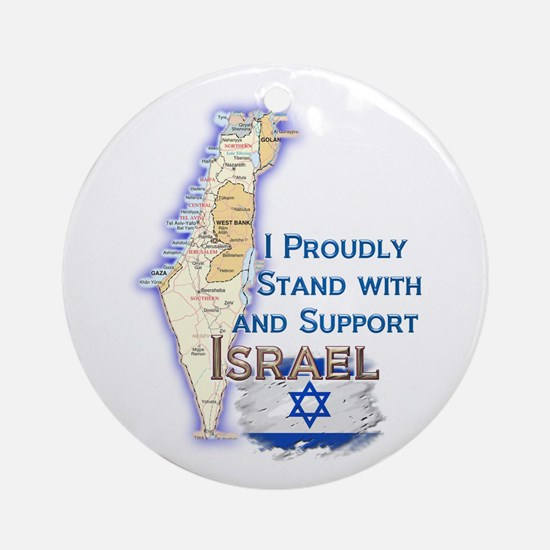 I Stand With Israel - Ornament (Round)