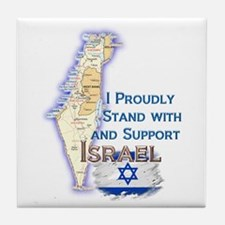 I Stand With Israel - Tile Coaster