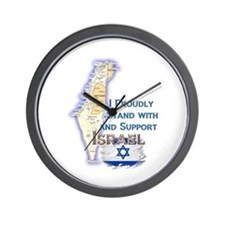 I Stand With Israel - Wall Clock