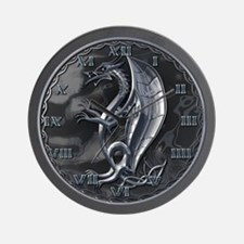 Silver Celtic Dragon Wall Clock