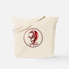 Red Celtic Dragon Tote Bag
