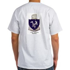 Ash Grey T-Shirt w/ 179th Crest Back