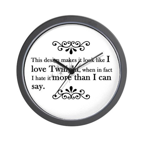 'Anti-Twilight' Wall Clock