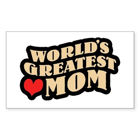 Worlds Greatest Mom Rectangle Sticker