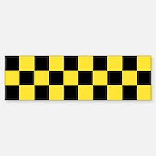 Checker Bumper Bumper Bumper Sticker