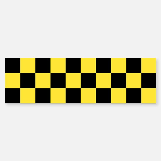 Checker Bumper Bumper Bumper Sticker
