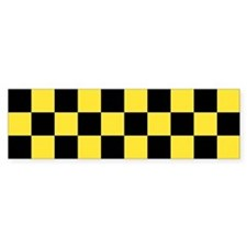 Checker Bumper Bumper Sticker