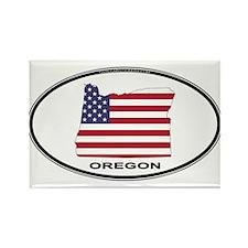 Oregon Shape USA Oval Rectangle Magnet