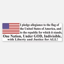Pledge of Allegiance Bumper Bumper Sticker