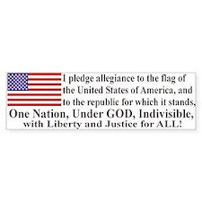 Pledge of Allegiance Car Sticker