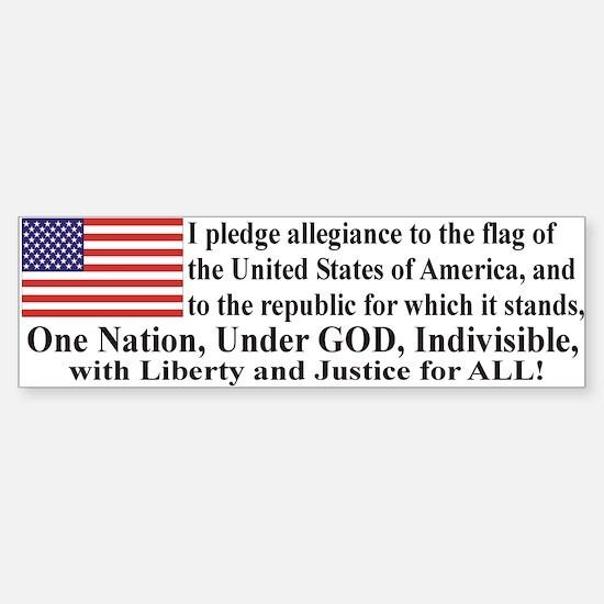 Pledge of Allegiance Sticker (Bumper)