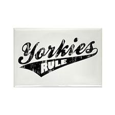 Yorkies Rule Rectangle Magnet