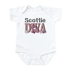 Scottish Terrier DIVA Infant Bodysuit
