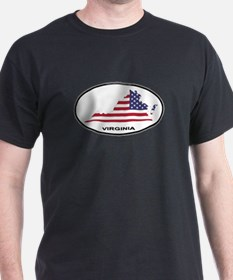 Virginia Shape USA Oval T-Shirt