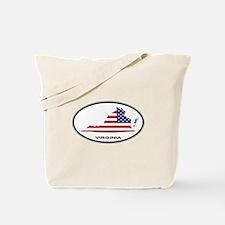 Virginia Shape USA Oval Tote Bag