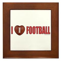 Football Love 2 Framed Tile