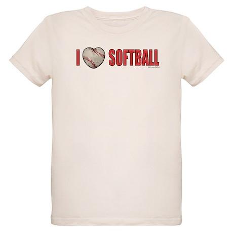 Softball Love 2 Organic Kids T-Shirt