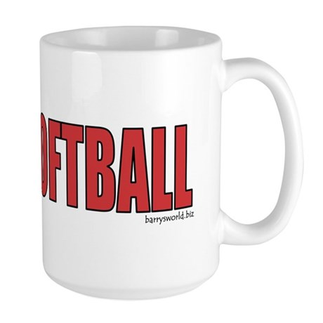Softball Love 2 Large Mug