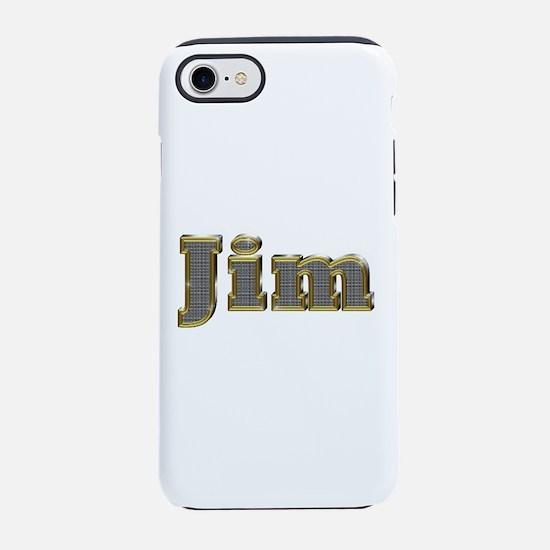 Jim Gold Diamond Bling iPhone 7 Tough Case