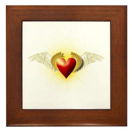 Illuminated Love in Flight Framed Tile