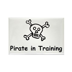 Pirate in Training Rectangle Magnet (10 pack)