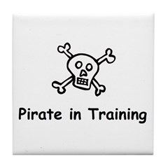 Pirate in Training Tile Coaster