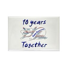 Cool 10th wedding anniversary Rectangle Magnet